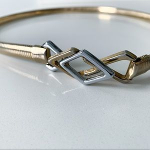 Accessories - Vintage '80s Gold Belt with Silver/Gold Clasp